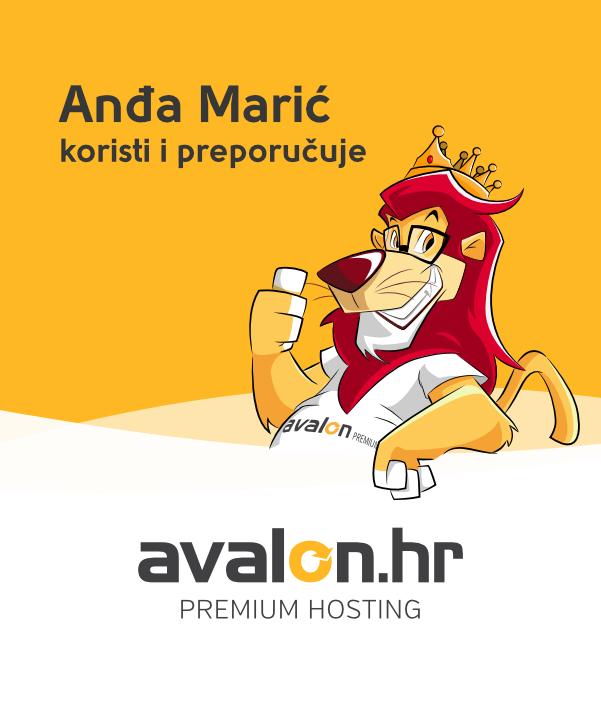 Anđa Marić koristi i preporučuje Avalon web hosting