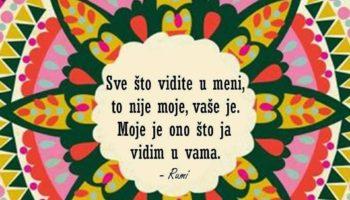 Rumi: Sve što vidite u meni…